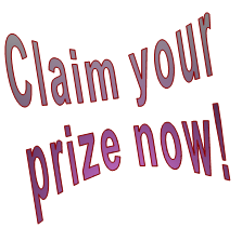Claim your prize now!